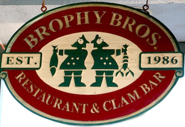 Brophy Bros. sign. Google virtual tour photographed by JP Jammet 805 Productions Santa Barbara.