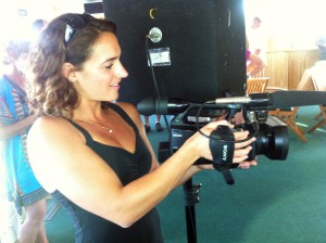 Joy camera operator on 805 Productions shoot.