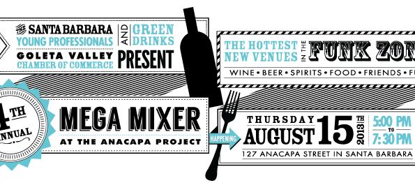 Santa Barbara Young Professionals 4th annual Mega Mixer at the Anacapa Project
