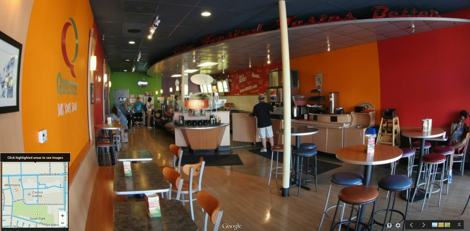 Google virtual tour in Goleta: QUIZNOS
