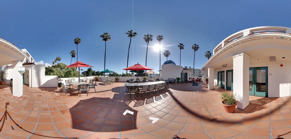 Book Ends Cafe Santa Barbara visite virtuelle Paris Santa Barbara