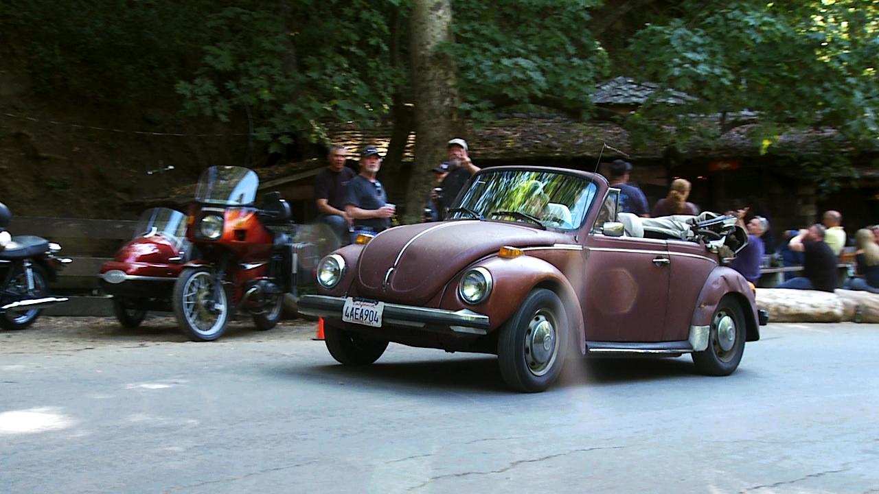 Bug Volkswagen Bug aka the Beetle at Teresa Russell concert, corded at Cold Spring Tavern Santa Barbara. 805 Productions Films