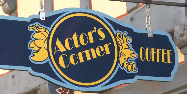 Actor's Corner Cafe sign - Solvang, CA United States. 805 Productions Santa Barbara.