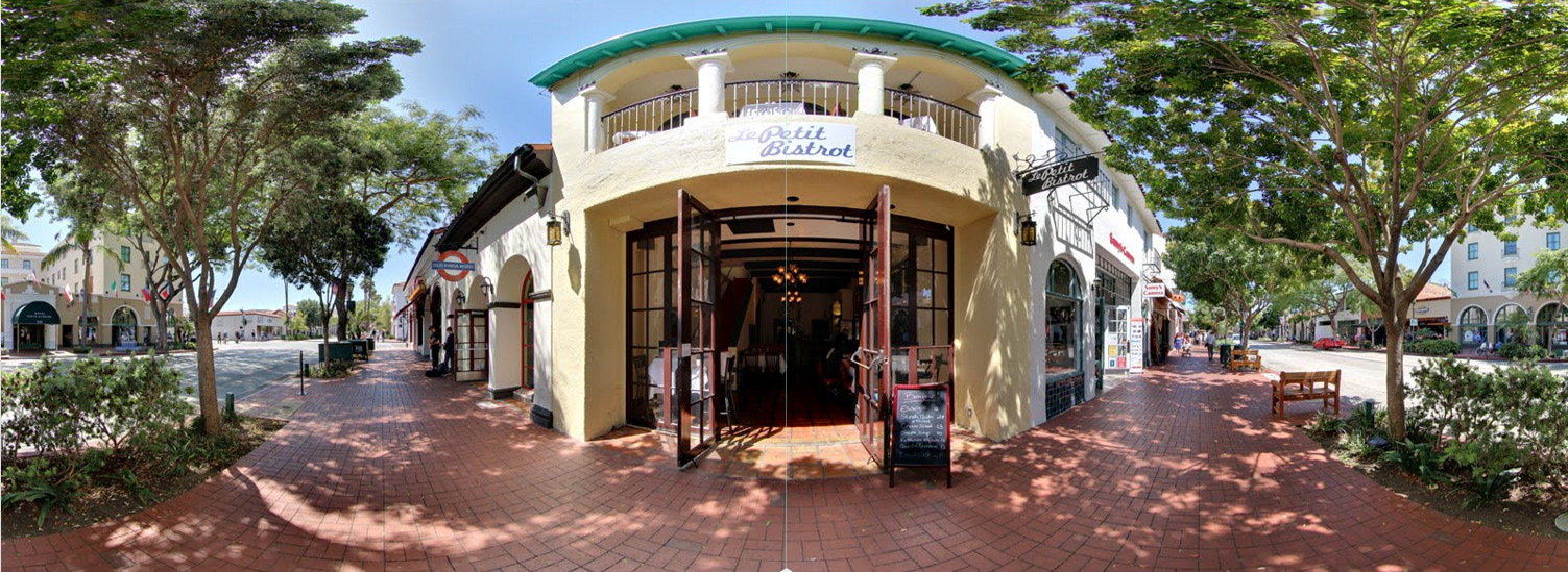 Le Petit Bistrot provided authentic French bistrot food. Traditional dishes and modern French bistrot classic dishes are offered in a comfortable setting in the heart of Santa Barbara. Google Street View Trusted created by 805 Productions Santa Barbara.