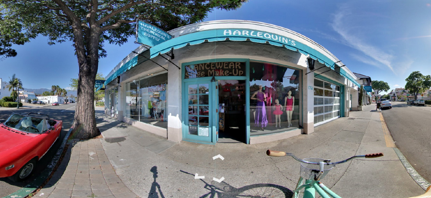 Harlequin's Theatrical Supply - Google Street View Trusted by 805 Productions Santa Barbara.