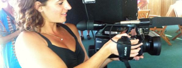 Joy camera operator on a 805 Productions shoot.