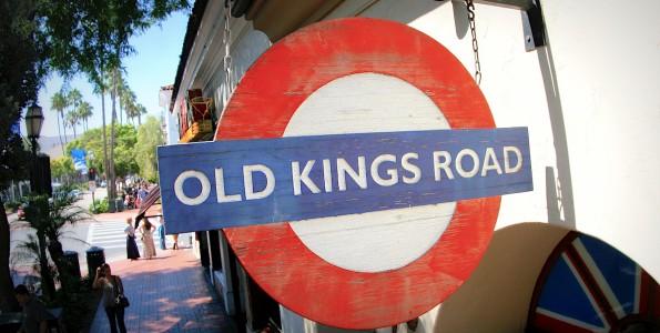 Old Kings Road Santa Barbara Front door logo sign