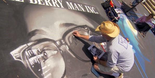 I Madonnari Street Painting Festival. Madonnaro Phil Robert for The Berry Man, Inc.